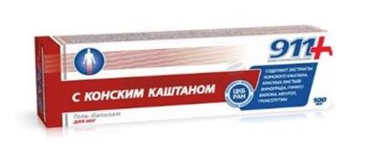 Picture of TVINS TEK - 911 Horse Chestnut balm gel for feet , 100ml
