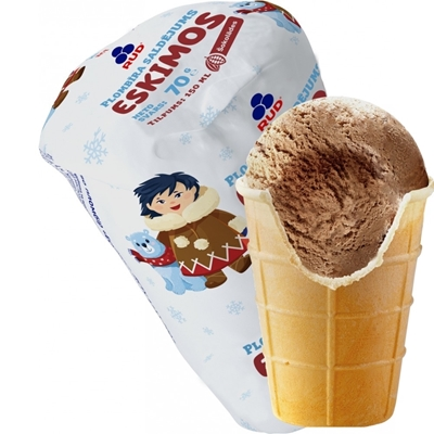 Picture of SMARRT UNITED - Chocolate ice-cream in waffle cup 150ml (box*30)