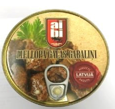 Picture of AIBI - Canned beef meat pices 525g (box*24)