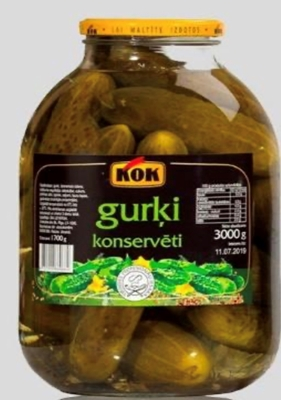 Picture of KOK - Marinated cucumbers 3L (box*4)