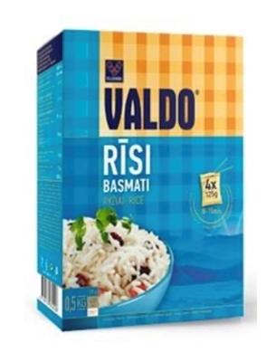 Picture of VALDO - Rice (Rīsi 'BASMATI) 0.5 kg(4x125 g) (in box 20)