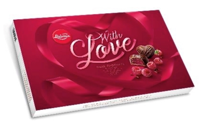 Picture of LAIMA - Laima Dark choc. candies with raspberry marmel. Filling, 224g (box*8)