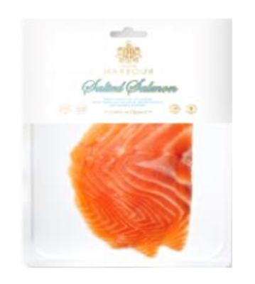 Picture of ROYAL NORDIC - Salmon fillet slices, lightly salted without skin 100g (box*10)