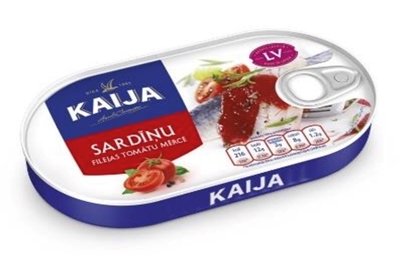 Picture of KAIJA - Sardina fillets in tomato sauce with EO 170g (box*24)