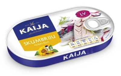 Picture of KAIJA - Mackerel fillets in oil with EO 170g (box*24)