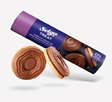 Picture of LAIMA - Selga Double biscuits with milk chocolate filling 205g (box*24)