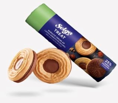 Picture of LAIMA - Selga Double biscuits with hazelnut filling 205g (box*24)
