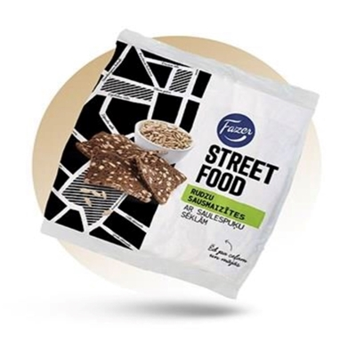 Picture of FAZER - Dried Rye bread with sunflower seeds 120g (box*20)