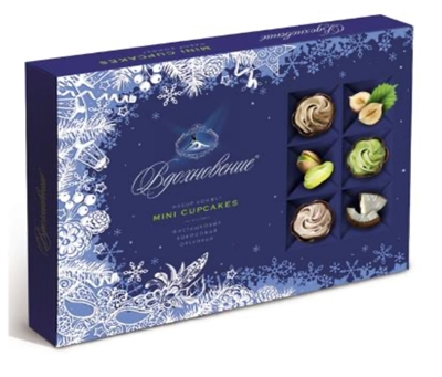 Picture of UNIKONF - Vdohnovenie mini cupcakes a selection of sweets 165g (box*9)