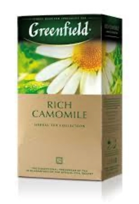 """Picture of GREENFIELD - """"Rich Camomile"""" Green Tea 25x1.5g (box*10)"""