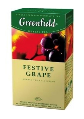 "Picture of GREENFIELD - ""Festive Grape"" Green Tea 25x2g (box*10)"