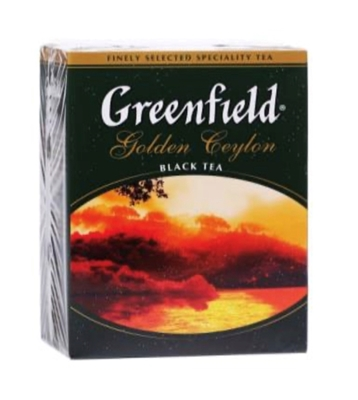 "Picture of GREENFIELD - ""Golden Ceylon"" Black Tea 100g (box*14)"