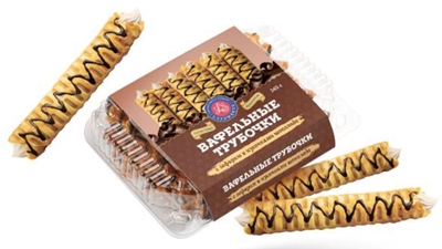Picture of LATSWEETS - Waffles with marshmallow and chocolate 340g (box*12)