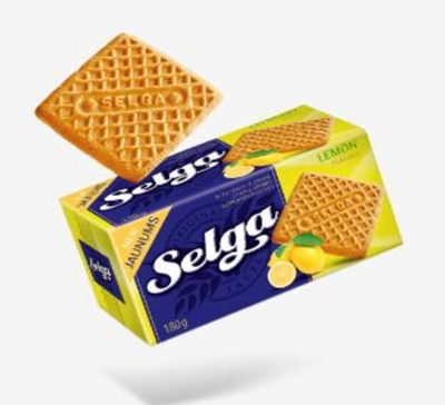 Picture of LAIMA - SELGA biscuits with lemon taste 180g (box*48)