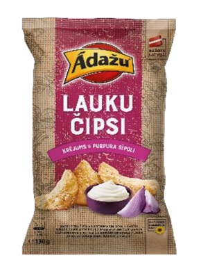 Picture of ADAZU - Country chips Sour cream & Red Onion 130g (box*10)