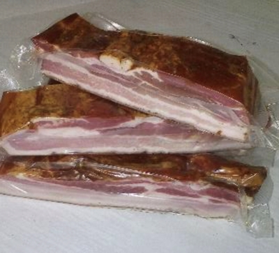 Picture of BM - Cold smoked bacon, ±500g £/kg