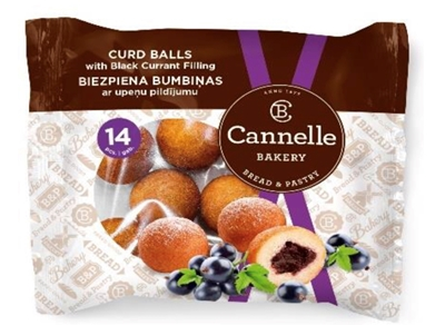 Picture of CANNELLE BAKERY SIA - Curd balls with blackcurrant filing 210g (box*12)