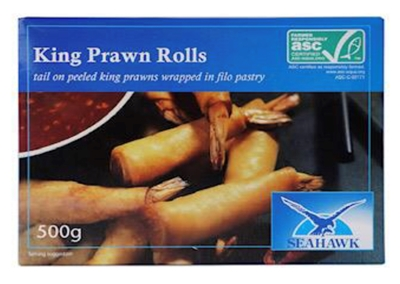 Picture of Seahawk - Crispy filo King Prawn Rolls, 500g (box*12)