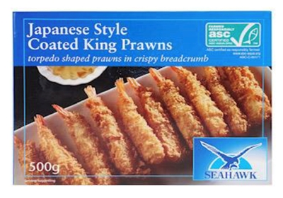 Picture of Seahawk - Crumbed Torpedo Kings Praws, 500g (box*12)