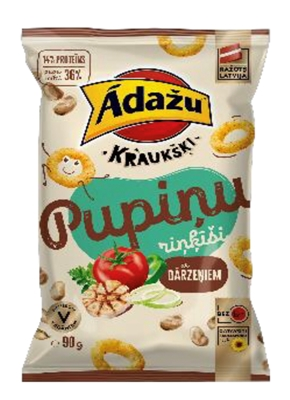 Picture of ADAZU - Ādažu Kraukšķi Bean rings with vegetables, 90g (box*18)