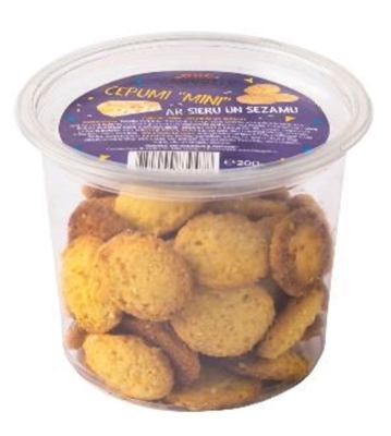 Picture of SIA DAUGULIS - Biscuits MINI with cheese and sesame seeds 200g (box*15)
