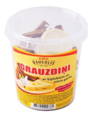 Picture of DAUGULIS - Bread snack with garlic &cheese flavour and garlic sauce 100g