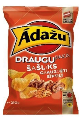 Picture of ADAZU - Chips Shashlik and roasted onions 210g (box*15)