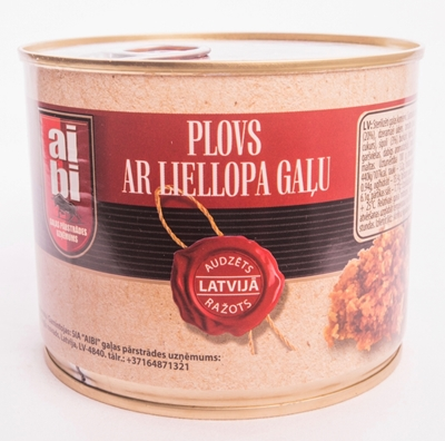 Picture of AIBI - Canned pilaf (plov) with beef 525g (box*24)