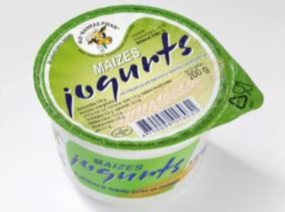 Picture of RANKAS PIENS - Bread Yoghurt with Nut Flavor and Grated Bread 200g (box*12)