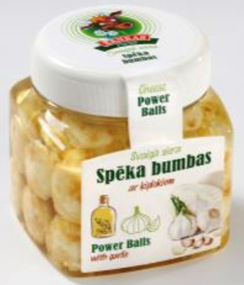 """Picture of RANKAS PIENS - Fresh Cheese Balls """"Speka Bumbas"""" With Garlic 240g"""