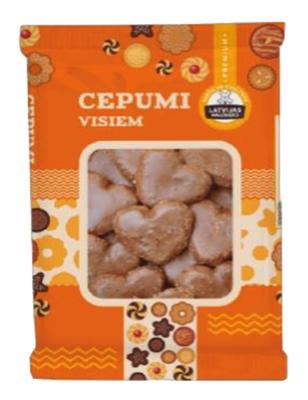 Picture of LATVIJAS MAIZNIEKS - Cookies SIRSNINAS with cocoa glaze 200g (box*10)
