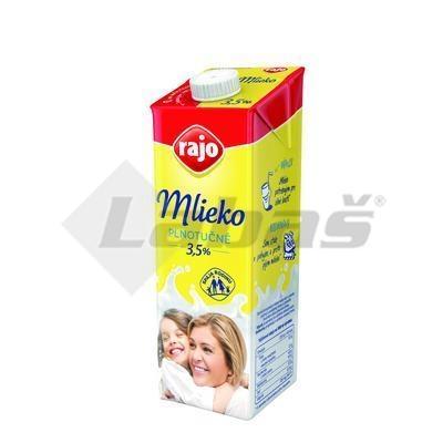 Picture of FULL FAT MILK DURABLE 1l 3,5% RAJO (box*12)
