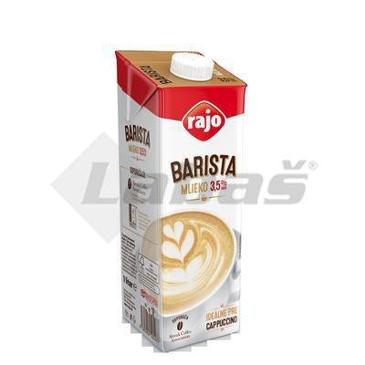 Picture of FULL FAT MILK PERMANENT 1l 3.5% BARISTA RAJO (box*12)