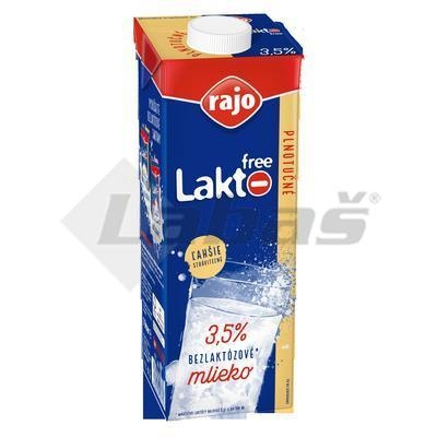 Picture of LACTOSE-FREE MILK FULL FAT PERMANENT 1l 3.5% RAJO (box*12)