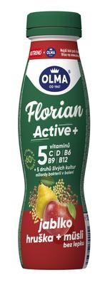 Picture of DRINK YOGHURT FLORIAN ACTIVE DRINK APPLE-PEAR-MEALS WITHOUT GLUTEN 320g OLMA BEZLEP (box*8)
