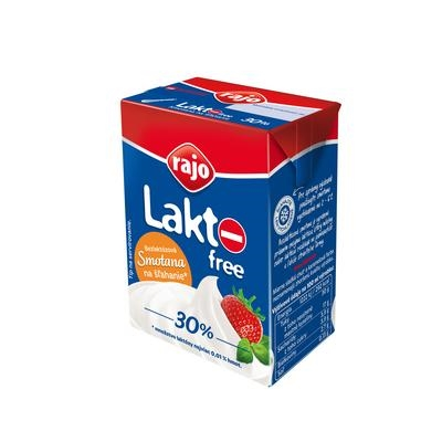 Picture of LACTOSE-FREE WHIPPING CREAM TRV. 30% 200ml RAJO (box*18)