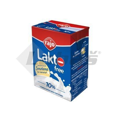 Picture of COOKING CREAM TRV. LACTOSE FREE 10% 200ml RAJO (box*18)
