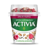 Picture of ACTIVIA WHITE YOGHURT WITH CHIA AND RASPBERRIES 155g DANONE
