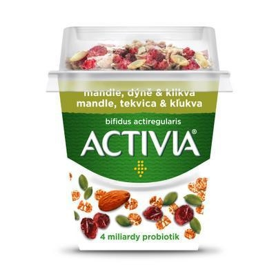 Picture of ACTIVIA WHITE YOGHURT WITH ALMONDS, GASKET AND CRANK 155g DANONE