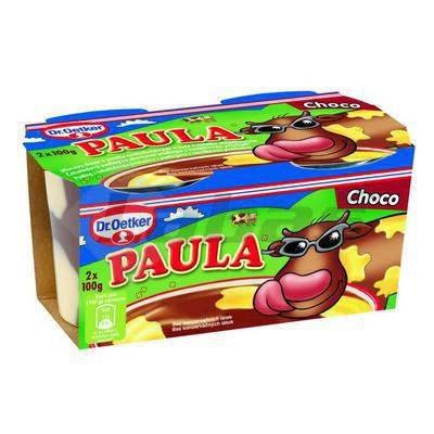 Picture of PAUL CHOCOLATE PUDDING WITH VANILLA. STAINED 2x100g OETKER