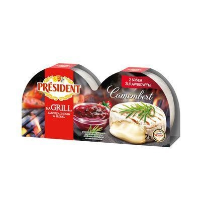 Picture of CAMEMBERT CHEESE GRILL 2x105g + 15g CRANBERRY SAUCE
