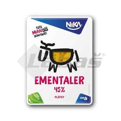 Picture of CHEESE EMENTALER SLICES 45% 100g NIKA