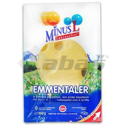 Picture of CHEESE EMMENTALER SLICES 45% 150g LACTOSE FREE MINUS-L OMIRA
