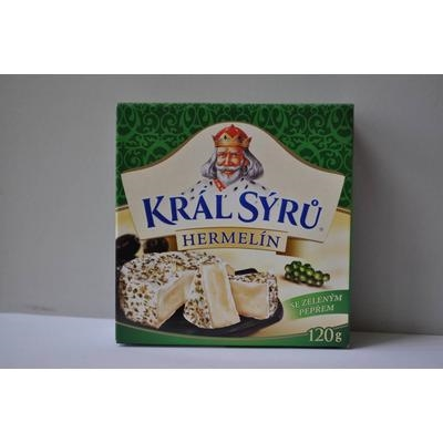 Picture of HERMELÍN CHEESE WITH GREEN. SPICES 120g KING OF CHEESE