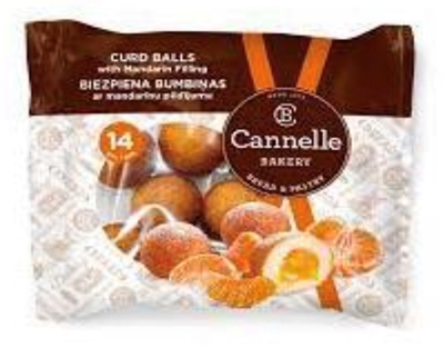 Picture of CANNELLE BAKERY - Curd balls with mandarin filing 210g (box*12)
