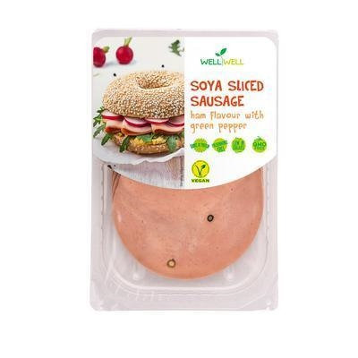 Picture of SOY SAUSAGE WITH HAM FAVOR 100g WELL WELL