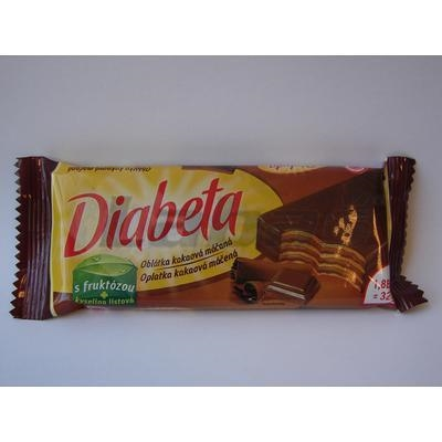 Picture of DIABETA WAFFLES WITH COCOA TEA. WHOLE WIPPED 32g L.HRÁDOK
