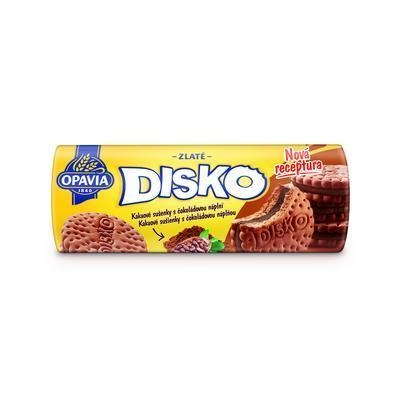 Picture of DISCO COCOA WAFFLES WITH CHOCOLATE FILLING 169g OPAVIA