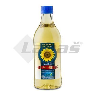 Picture of SUNFLOWER OIL FOR STUD FRUIT. PRESSED 1l PET KLÁTOVSKÝ