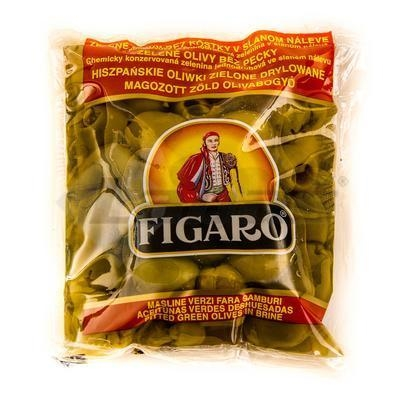 Picture of GREEN OLIVES WITHOUT CUBES 180g / PP 75g FIG BAG